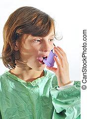 usar inhaler, niña