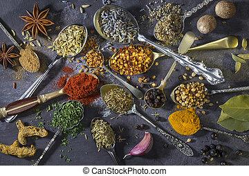 usato, cottura, -, cucchiai, aggiungere, aroma, spezie