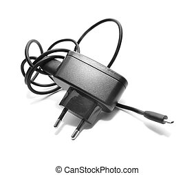 usb charger isolated on white