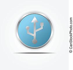usb circle web icon