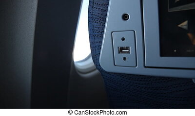 USB connection in jet.