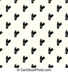 Usb device pattern seamless vector