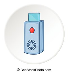 USB flash drive icon, cartoon style