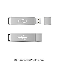 USB Flash Drive isolated on white background