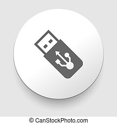 USB Flash drive vector iconon white background. EPS10