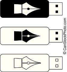 USB flash drives, portable data storage