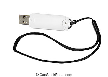 USB flash memory - isolated object, great for your design...
