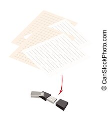 Usb Flash Memory with Pen and Blank Paper