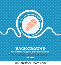 USB flash sign. Blue and white abstract background flecked with space for text and your design. Vector