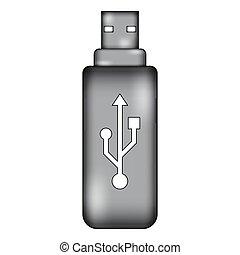 Usb flash sign icon.
