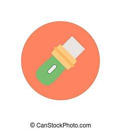 USB  flat color icon