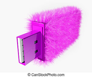 USB glamur - art USB-flash, The slogan: purchase and sale...