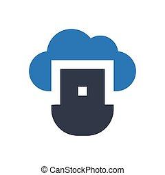 USB  glyph color icon