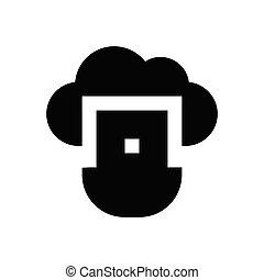 USB glyph flat icon
