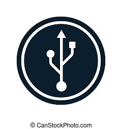 usb icon transparent circle