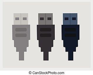 USB Icons Vector