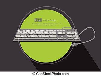 USB Keyboard Vector