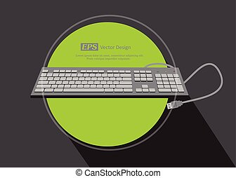 USB Keyboard Vector