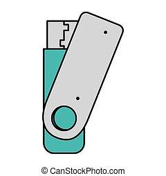 usb memory flash icon