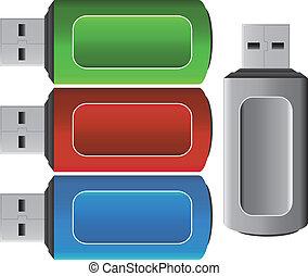 USB pendrive icon