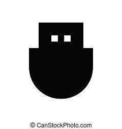 USB  pixel perfect icon