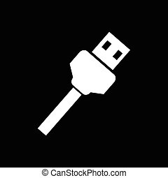 USB Plug Icon Illustration design