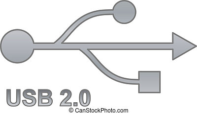Usb sign for interface electronic hardware.