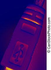 usb, stekker, infrarood