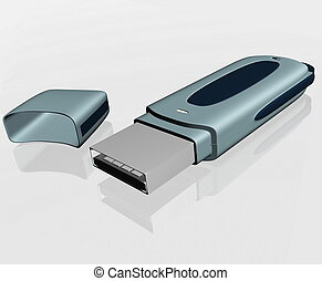 USB storage drive isolated
