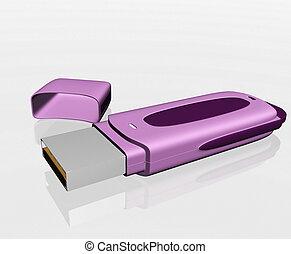 USB storage drive isolated