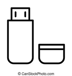 Usb thin line icon