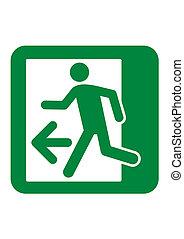 uscita emergenza, segno