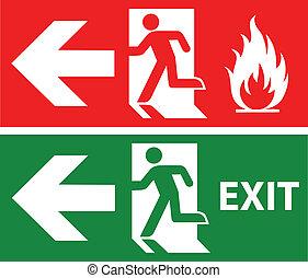 uscita, emergenza