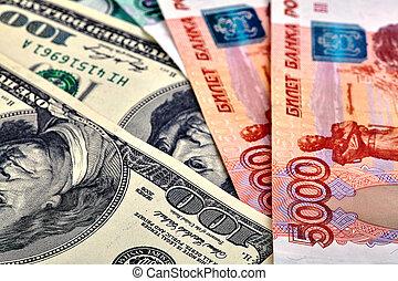 USD RUB banknotes