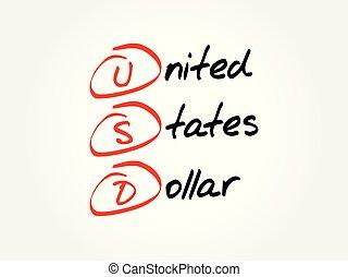 USD - United States Dollar acronym
