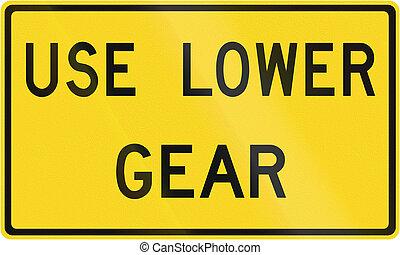 Use Low Gear in Canada