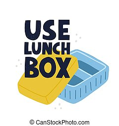 Use lunch box slogan. HAnd drawn vector lettering and ...
