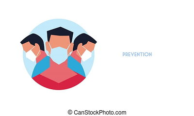use medical mask prevention covid19 method ,4k video animated