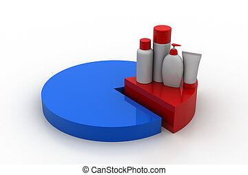Use of cosmetics products  concept
