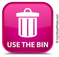 Use the bin (trash icon) special pink square button