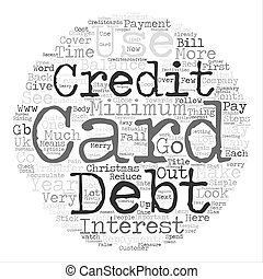 Use Your Credit Card To Have A Merry Christmas text background word cloud concept