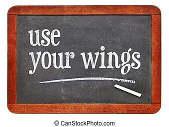Use your wings text on blackboard