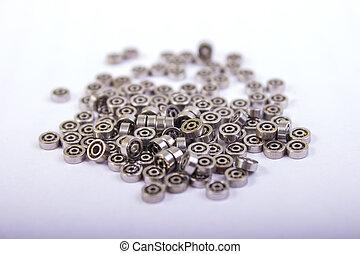 Used ball bearing on white background