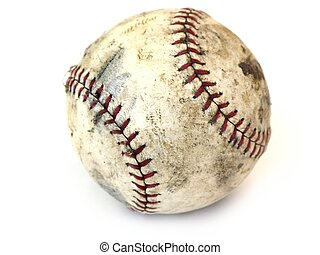 used ball - used base ball isolated
