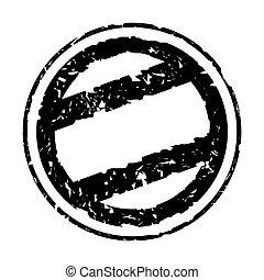 Used blank black stamp