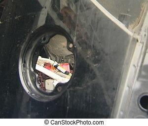 Used car parts scrap.