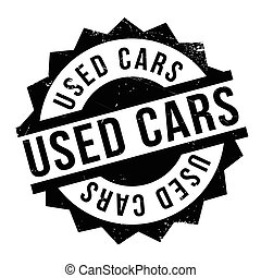 Used Cars rubber stamp. Grunge design with dust scratches. ...