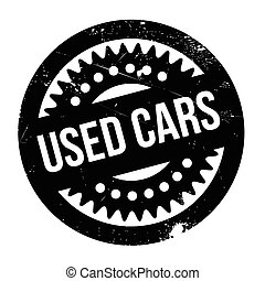 Used Cars rubber stamp. Grunge design with dust scratches....