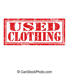 Used Clothing-stamp - Grunge rubber stamp with text Used...