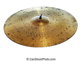 Used Cymbal - Used cymbal isolated on white background